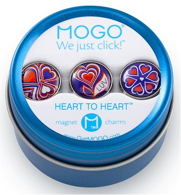 MOGO Magnet Charms - Heart To Heart